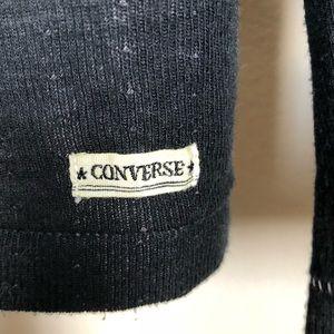 5074a908f7eb Converse Shirts - Converse Black Canvas Label Cardigan